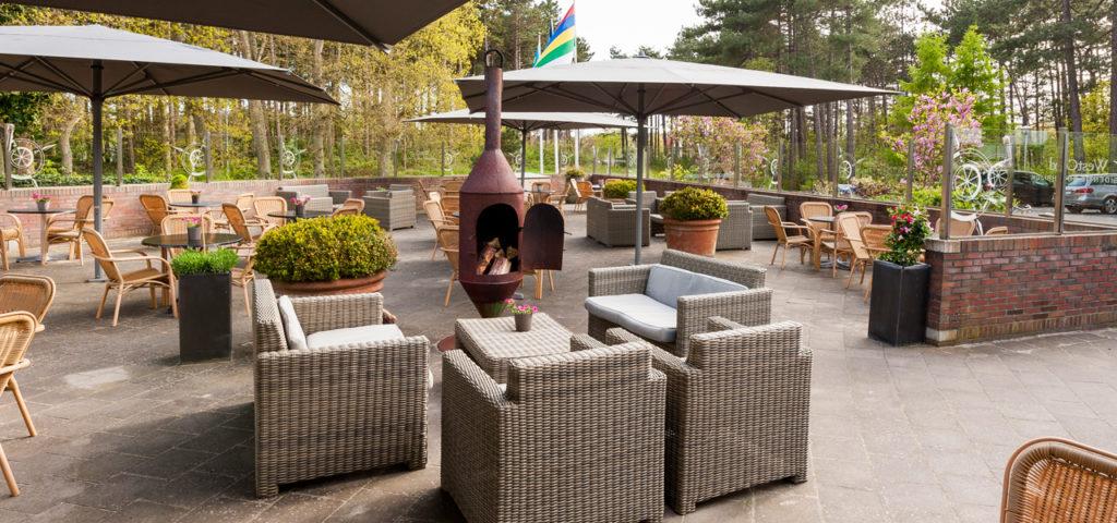 Terras bij WestCord ApartHotel Boschrijck - Westcord Hotels