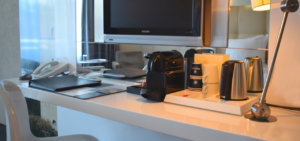 Hotel Schylge room desk - Westcord Hotels