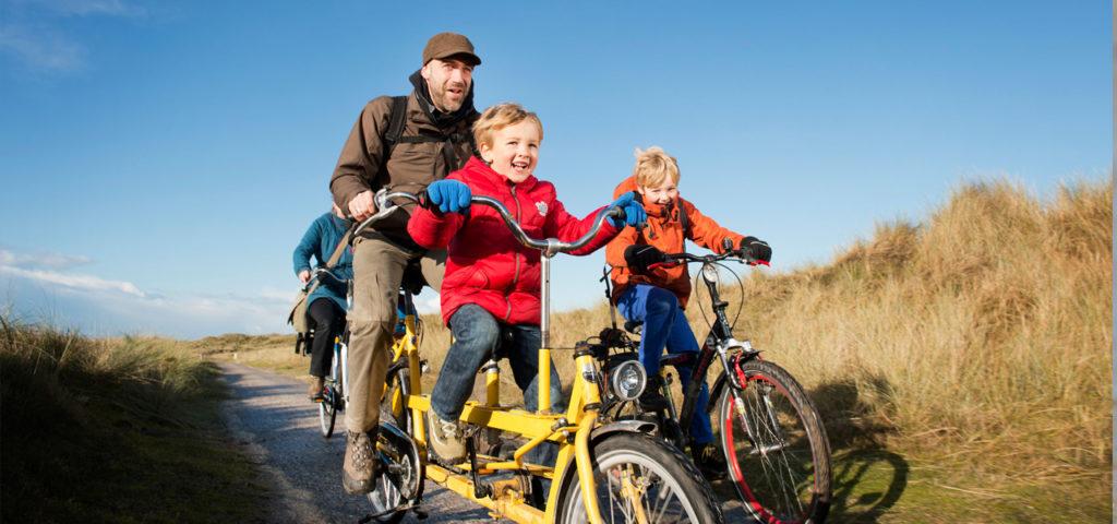 Fahrrädern auf den Watten Inseln - WestCord Hotels