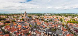 Uitzicht op het centrum van Delft - Westcord Hotels