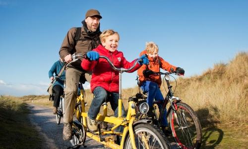 Fahrrädern auf den friesischen Inseln